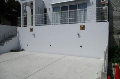沖縄県西原町N邸、外壁塗装工事