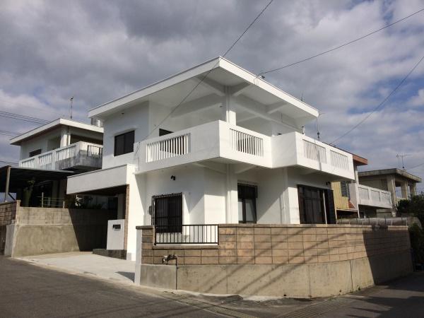 沖縄県西原町、N邸ペンキ塗り替えリフォーム・塗装・防水・補修工事