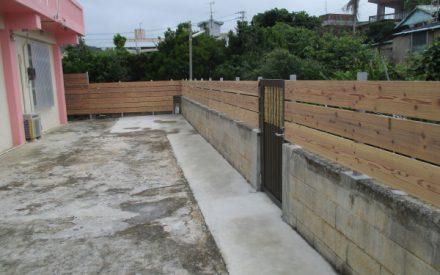 木フェンス、外構工事(沖縄県南城市)