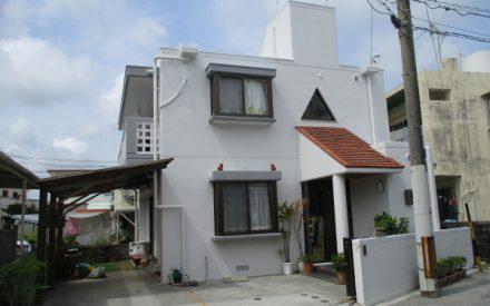 T様邸 外壁補修、外壁塗装、屋上防水遮熱リフォーム工事(沖縄県西原町)
