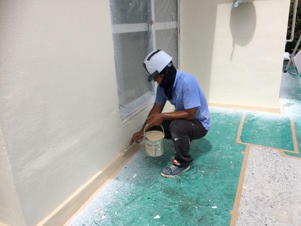 外壁補修、塗装、防水、トタン張り替えリフォーム工事 (沖縄県西原町)