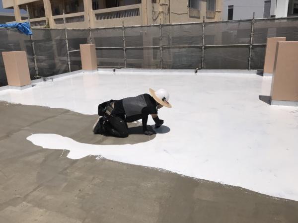 ペンキ塗り替え・屋上遮熱防水リフォーム工事の流れです(沖縄県南部にて)