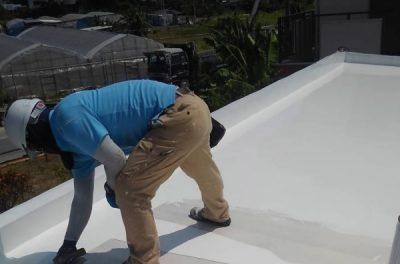 恐かった断熱ブロックの撤去・屋上遮熱防水工事(沖縄県西原町にて)