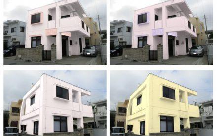 『カラーシュミレーションで美しく』外壁補修・外壁塗装・屋上防水工事(沖縄県西原町)