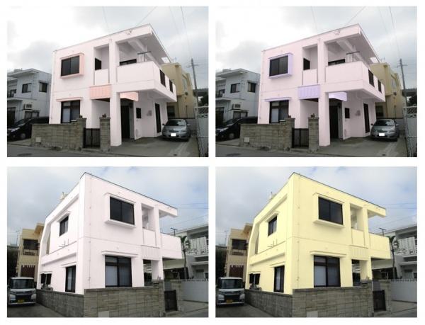 『カラーシュミレーションで美しく』N様邸、外壁補修・外壁塗装・屋上防水工事(沖縄県西原町)