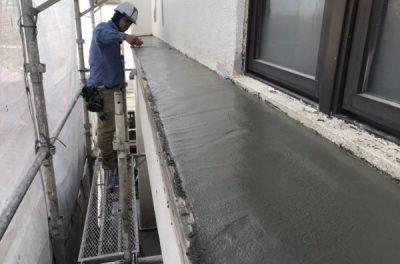 外壁補修中です(なぜ?モルタルかさぎは浮き、剥がれるのか?)沖縄県西原町