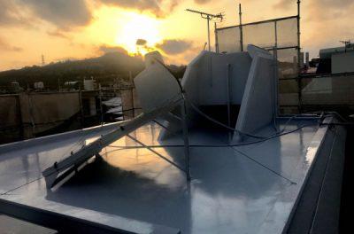 屋上遮熱防水工事をご紹介します。