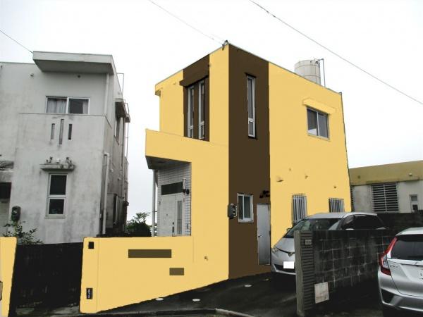 外壁塗装リフォームのカラーシュミレーション♬ (沖縄県南城市つきしろ)