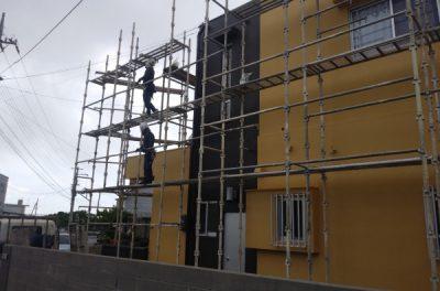 足場を解体しました。~外壁塗装リフォーム工事~