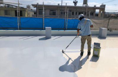屋上防水工事、完了です!!(西原町)
