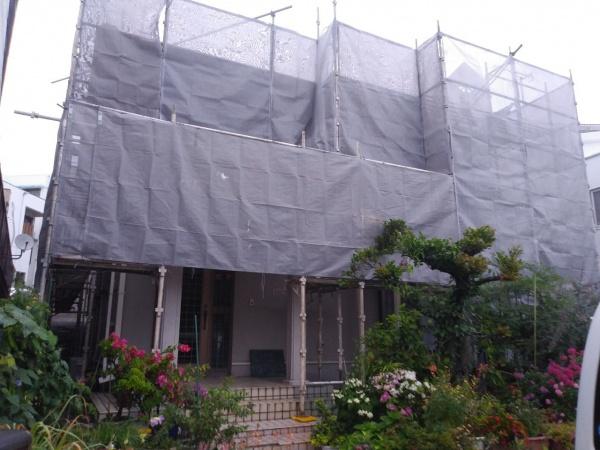 外壁塗装、新規現場のスタートです(^ ^)/