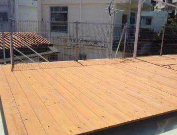 ウッドデッキ、木フェンス、木塗装塗り替え工事(沖縄県中南部)