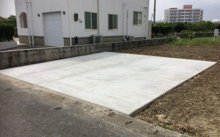駐車場工事(沖縄県西原町)