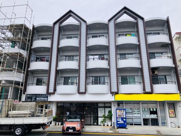 アパート外壁補修、塗装(沖縄県中城村)