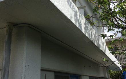 爆裂の部分補修工事(沖縄県西原町)