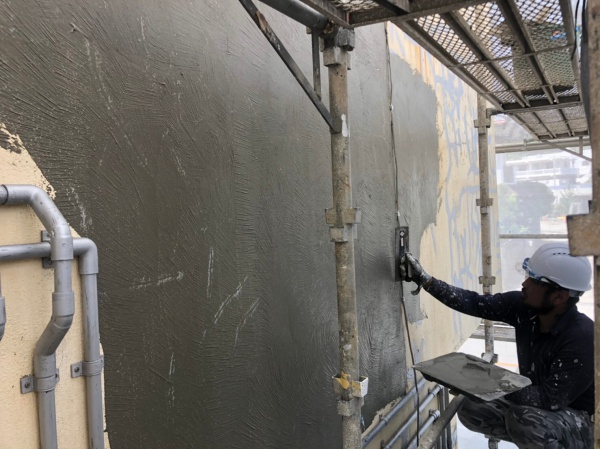 アパート外壁塗装現場より~亀裂、ひび割れ補修編~