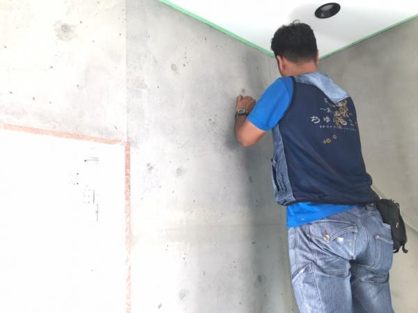 打ちっ放しの外壁塗装もお任せください (*^-^*)