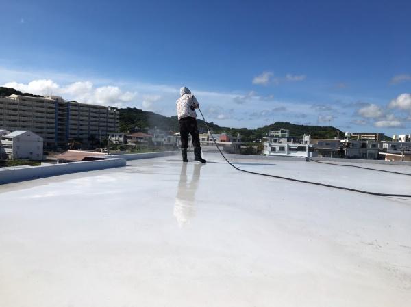 屋上部分補修・防水工事も行っております(^^)/(与那原町)