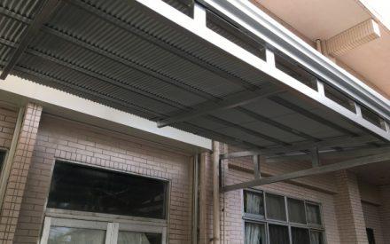 トタン張替え、鉄骨塗装(沖縄県浦添市)