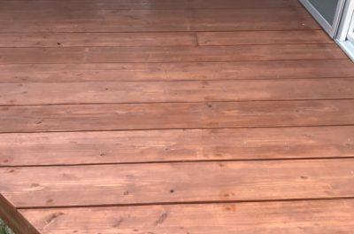 幸せ空間♡ウッドデッキ工事(中城村にて)