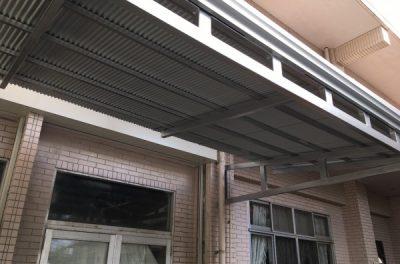 シルバーでかっこよく✨トタン張替・鉄骨塗装工事(浦添市)