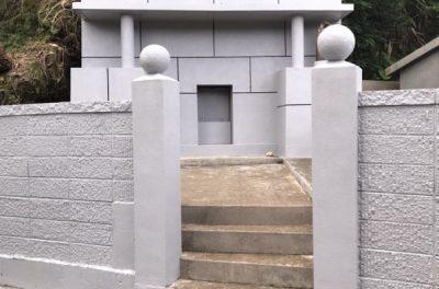 お墓補修・塗装工事(西原町にて)