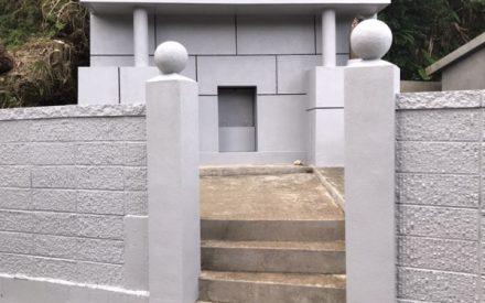 お墓補修・塗装工事(沖縄県西原町にて)