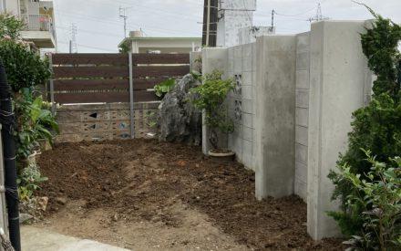 ブロック積み・フェンス取付工事(沖縄県西原町)