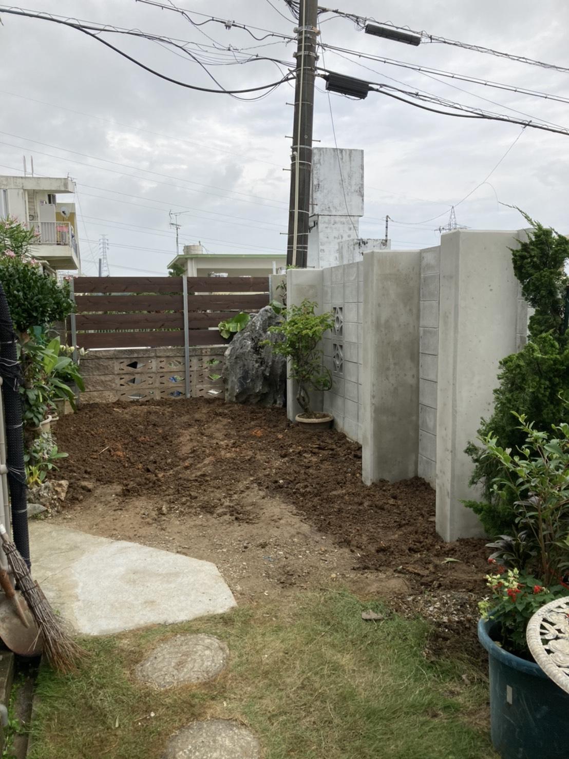 ブロック積み・フェンス取付工事(西原町)