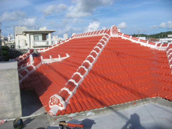 K邸、瓦防水塗装工事 in 沖縄県八重瀬町