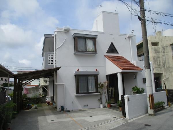 T様邸 外壁補修、外壁塗装、屋上防水遮熱リフォーム工事 in 沖縄県西原町