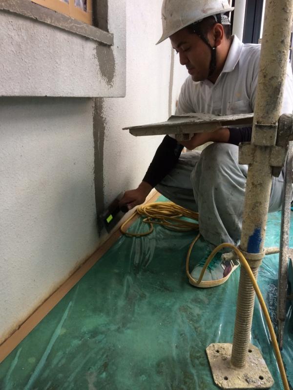 小嶺様邸、外壁補修、外壁塗装の進捗状況です。(沖縄県南部)