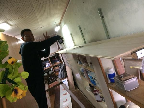 西原町兼久自治会の大掃除に行きました。(●^o^●)