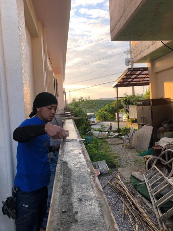 外構工事(庭土間打ち・ブロック塀、擁壁左官補修工事)