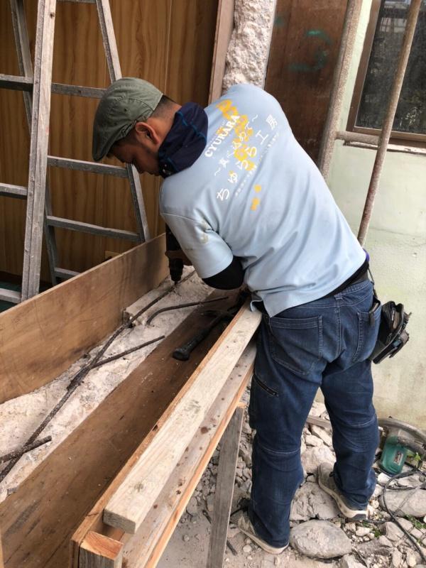 アルミサッシ取り替え・出窓復旧工事(沖縄県与那原町)