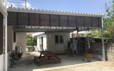 カーポート工事(亜鉛メッキ仕上げ)沖縄県中部
