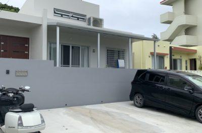 アルミテラス設置・擁壁塗装工事