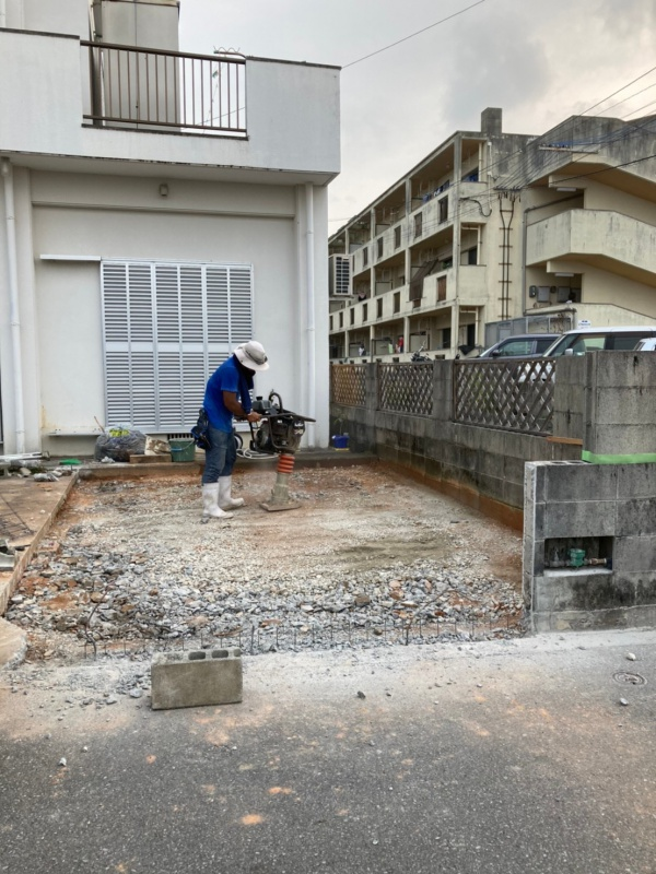 駐車場・外構工事(沖縄西原町)
