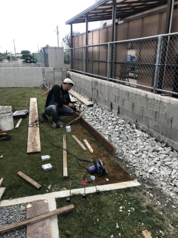 お庭を広~く!外構工事を行っております(^^)