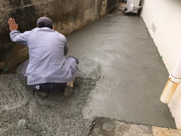 那覇市首里で駐車場工事中です(^^)♪