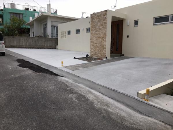 駐車場工事(北中城村にて)