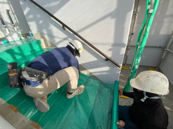 アパート外壁塗装・屋上防水工事(西原町にて)