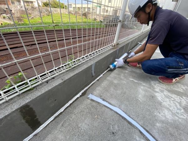 塗り床(西原町、マンション塗り替え工事)