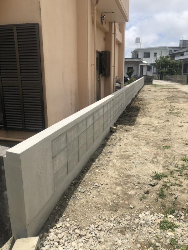 外構工事 ブロック積み直し工事完了です♪(西原町にて)