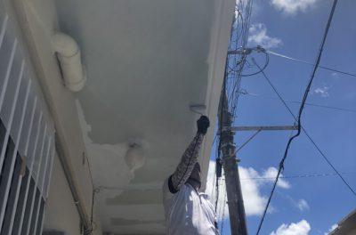 アパート外壁修理・塗装工事(浦添市にて)